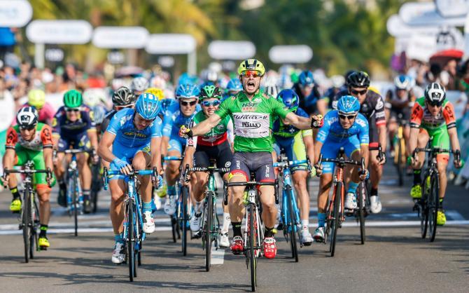 Jakub Mareczko ha un feeling particolare con le corse cinesi: dopo aver conquistato il Tour of Taihu Lake il velocista italo-polacco comincia bene anche il Tour of Hainan con un secondo, un primo posto e la classifica generale parziale (www.tourofhainan.com)