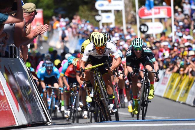 Dopo laffermazione di Greiper nella frazione dapertura, Caleb Ewan va a segno nella tappa numero 2 del Tour Down Under (foto Bettini)