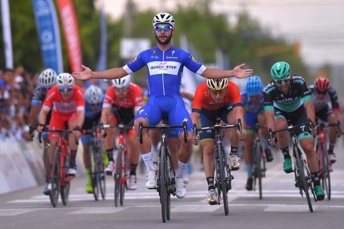 Gaviria sgomina la concorrenza italiana nella prima tappa della Vuelta a San Juan Internacional (foto Tim de Waele/TDWSport.com)
