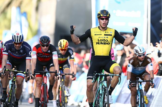 Il figlio darte Danny Van Poppel vince la prima tappa della Vuelta Valenciana: suo padre Jean-Paul ha corso tra i professionisti tra il 1985 al 1995, pure primeggiando nella specialità della volata (foto Tim de Waele/TDWSport.com)