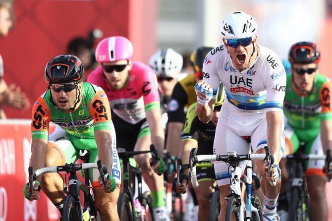 Il norvegese Kristoff inaugura ledizione 2018 dellAbu Dhabi Tour (foto Tim de Waele/TDWSport.com)