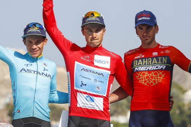 Il podio del Tour of Oman 2018 (foto Bettini)