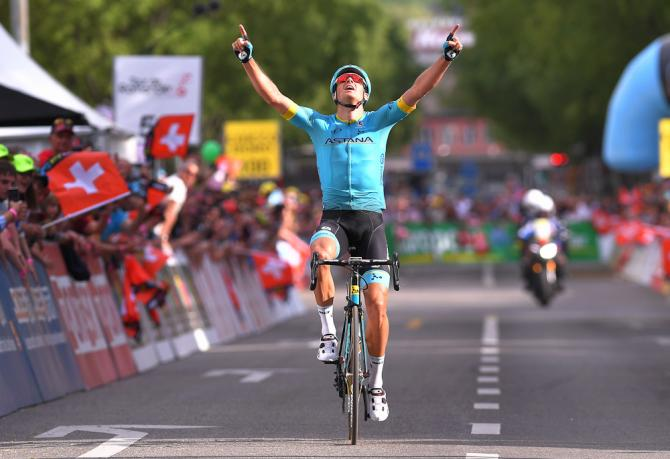 Il danese Fuglsang si impone nella tappa regina del Tour de Romandie 2018 (foto Tim de Waele/TDWSport.com)