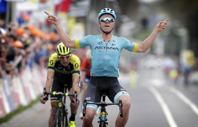 LAstana scomina le squadre rivali e manda Valgren al successo allAmstel Gold Race (foto Bettini)