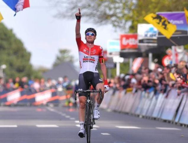 Wellens, vittoria con dedica a Goolaerts alla Freccia del Brabante (Tim de Waele/TDWSport.com)