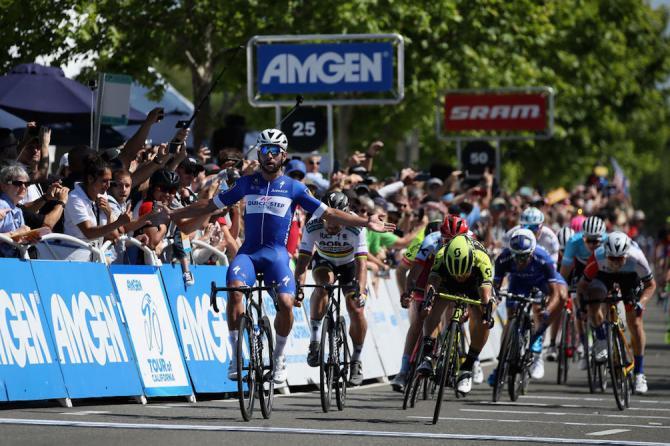Il secondo successo di Fernando Gaviria sulle strade del Giro di California 2018 (Getty Images)