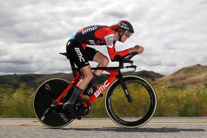 Van Garderen sfreccia verso la vittoria nella cronometro di Morgan Hill, 4a tappa dellAmgen Tour of California (Getty Images)