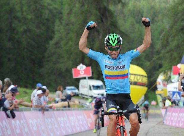 Rubio continua la festa colombiana sulle strade del Giro dItalia Under 23 (foto Isolapress)