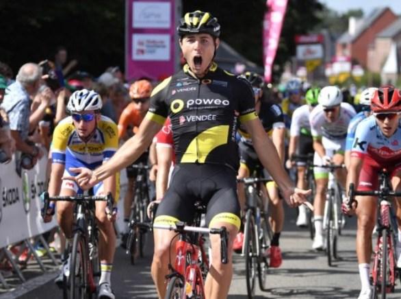 Romain Cardis vince la tappa dapertura del Tour de Wallonie (foto Marc Van Hecke)