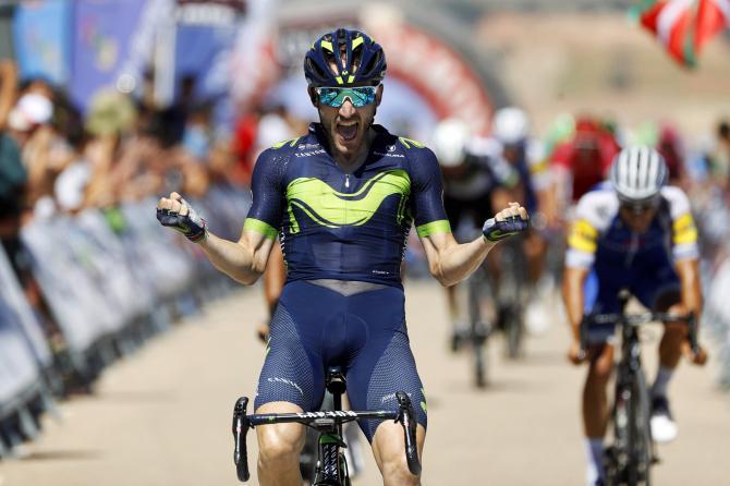 Carlos Barbero conquista il penultimo traguardo della Vuelta a Burgos 2018 (foto Bettini)