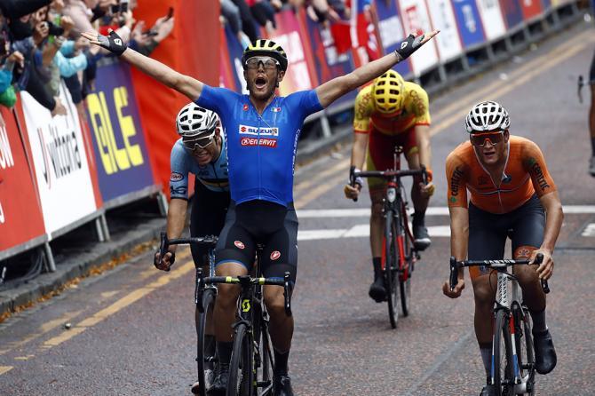 Matteo Trentin regala allItalia la prima affermazione nel campionato europeo professionisti (foto Bettini)
