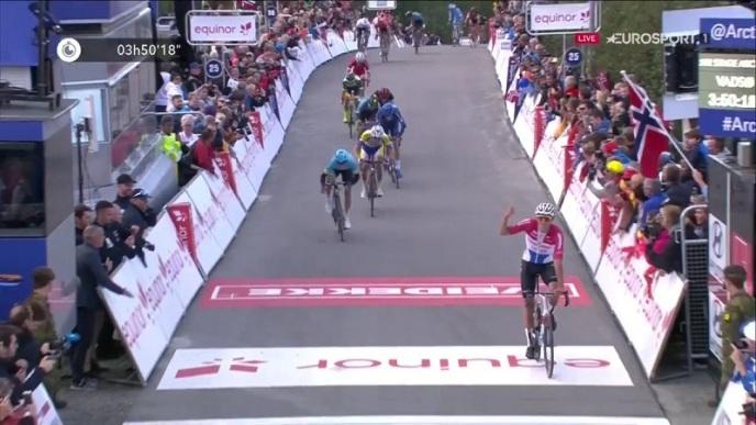 Mathieu van der Poel si impone nella prima tappa del Giro della Norvegia Artica (Eurosport)