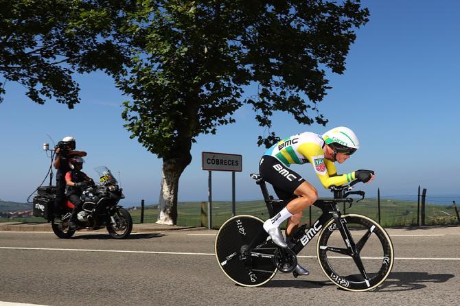 Rohan Dennis vola verso il mondiale di Innsbruck e verso la seconda vittoria a cronometro alla Vuelta 2018 (Getty Images)