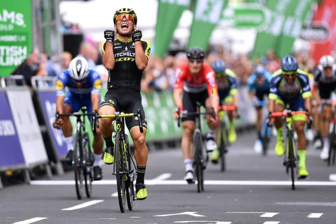 Il Tour of Britain chiude ledizione 2018 con una classifica tappa passerella disegnata sulle strade di Londra, vinta dallaustraliano Caleb Ewan (Getty Images)