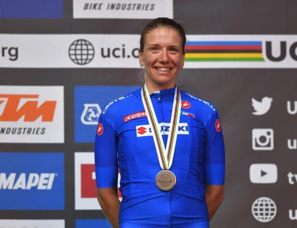 Tatiana Guderzo medaglia di bronzo al mondiale donne élite (Getty Images)