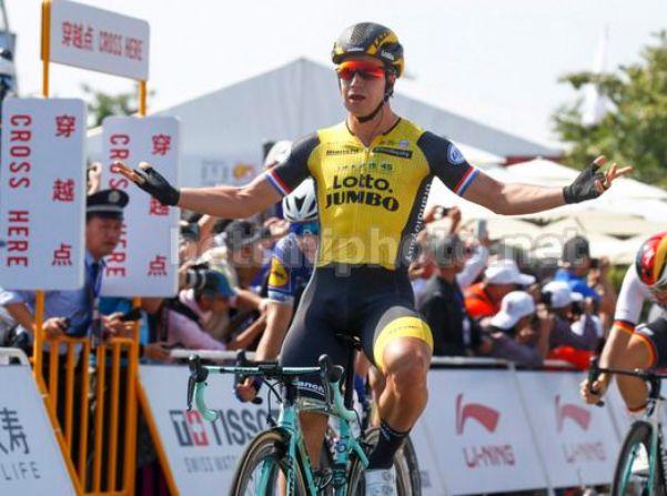 Il tedesco Groenewegen fa sua la prima tappa della seconda edizione del Gree-Tour of Guangxi (foto Bettini)