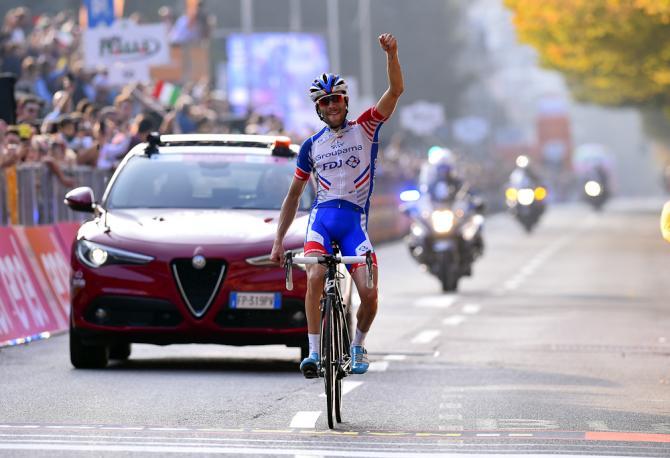 Pinot riporta in terra di Francia il Giro di Lombardia dopo aver fatto il pieno alla Milano-Torino (foto Bettini)