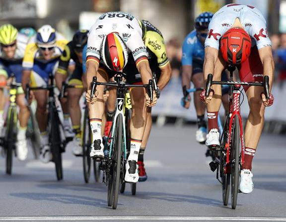 Ackermann batte al colpo di reni il connazionale Kittel nella corsa andalusa (foto Bettini)