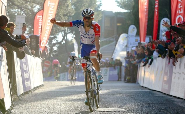 Thibaut Pinot vince la tappa regina del Tour du Haut Var assicurandosi il successo nella classifica finale della breve corsa francese (foto  LNC - Activ Images)