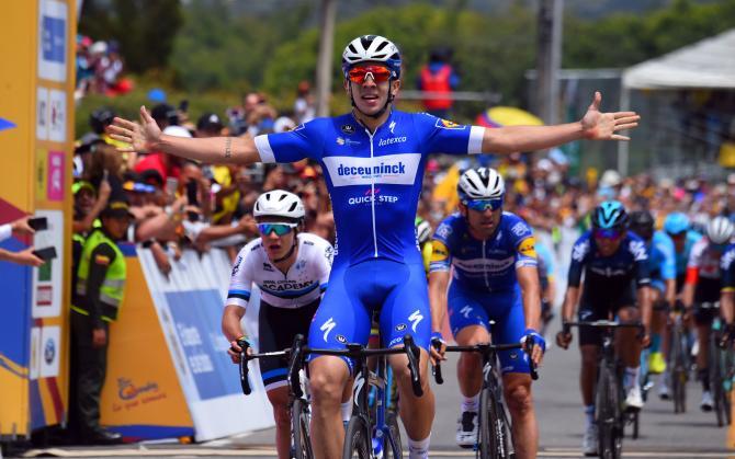 Ancora Colombia protagonista nella corsa di casa: ora è il turno di Álvaro Hodeg, vincitore della prima tappa in linea e nuovo capoclassifica dopo aver scalzato il connazionale Urán (foto Bettini)