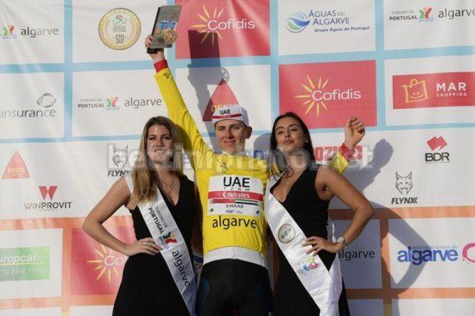 Beato tra le miss, Tadej Pogačar viene consacrato vincitore della Volta ao Algarve 2019 (foto Bettini)