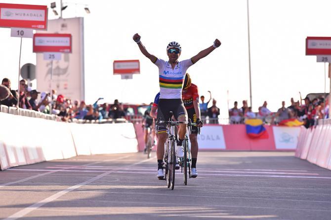 Valverde un anno dopo torna a trionfare sulla Jebel Hafeet (foto Bettini)