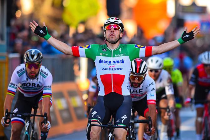 Erano 4 anni che un italiano non si imponeva in una tappa della Corsa dei Due Mari (foto Bettini)