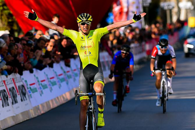 Contro tutti i pronostici a Crevalcore arriva la fuga e vince il belga Ludovic Robeet (foto Bettini)