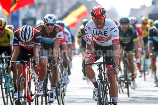 Alexander Kristoff si impone nettamente in una delle più spettacolari edizioni della corsa belga (foto Bettini)