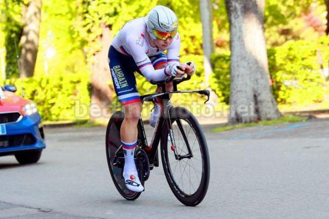 Jan Tratnik viaggia verso il successo nel cronoprologo del Tour de Romandie (foto Bettini)