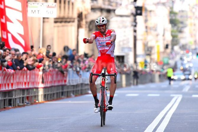 Androni ancora protagonista sulle strade italiane: dopo le due vittorie di tappa conseguite da Fausta Masnada al Tour of the Alps arriva laffermazione di Mattia Cattaneo al Giro dellAppennino (foto Bettini)