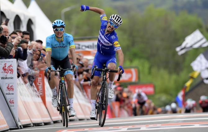 Per il secondo anno consecutivo Julian Alaphilippe fa sua la Freccia Vallone (foto Bettini)