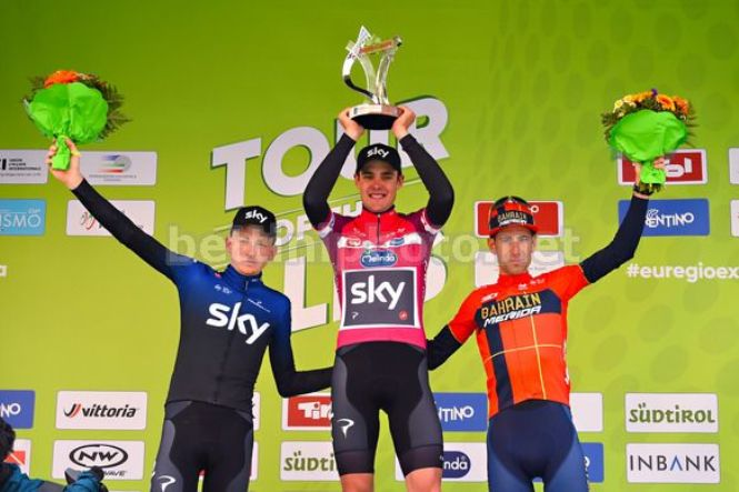 Il podio del Tour of the Alps 2019 (foto Bettini)