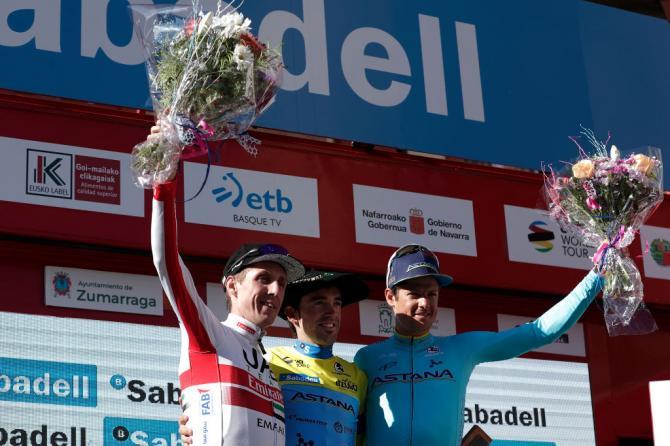 Il podio della 59a edizione del Giro dei Paesi Baschi (Getty Images)