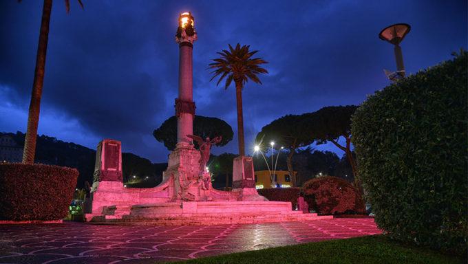 Anche il monumento ai caduti di Frascati sè rifatto il look in occasione del Giro (www.controluce.it)