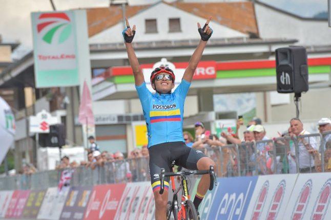 Ancora colombia protagonista al Giro Under 23, stavolta con Juan Diego Alba che fa suo il tappone del doppio Mortirolo (foto IsolaPress)