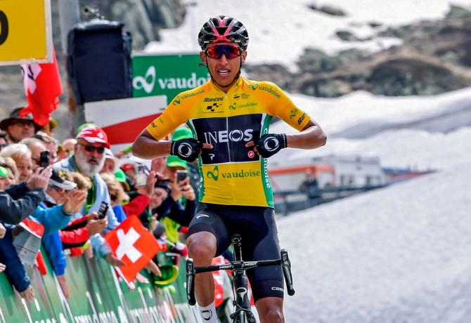 Bernal vince la tappa regina del Giro di Svizzera ipotecando il successo finale a due giorni dal termine della corsa elvetica (foto Bettini)