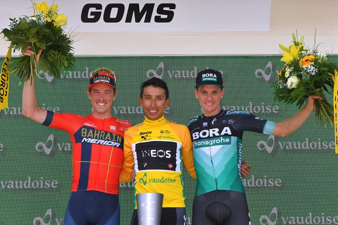 Il podio del Tour de Suisse 2019 (Getty Images)