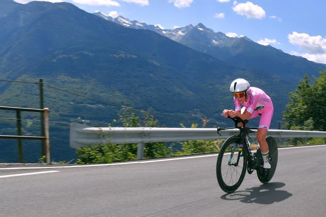 Annemiek van Vleuten in azione nella cronoscalata del Giro Rosa 2019 (Getty Images)