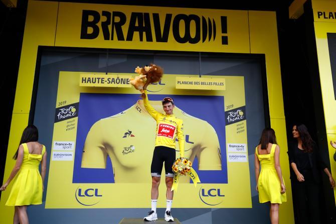 Bravo Ciccone, il corridore abruzzese riporta la maglia gialla in Italia (foto Bettini)