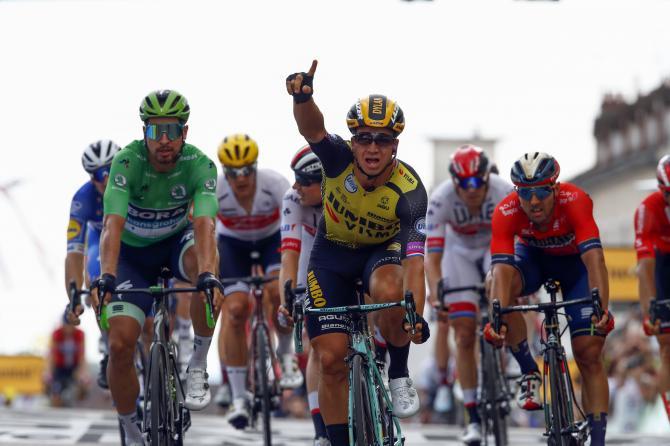 Groenewegen vince allo sprint la settima frazione del Tour de France (foto Bettini)