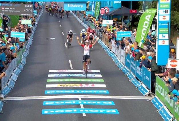 Benoot si impone nella prima frazione della corsa danese (Eurosport)