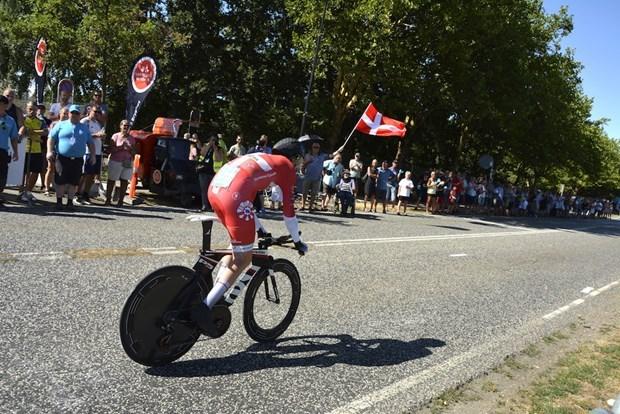 Martin Toft Madsen vola a prendersi la vittoria di tappa nella cronometro del Giro di Danimarca (tidende.dk)
