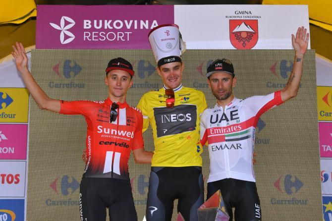 Il podio del Giro di Polonia 2019 (Getty Images)