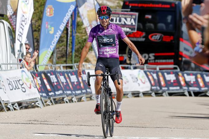 La vittoria di Sosa alle Lagunas de Neila, conclusiva traguardo della Vuelta a Burgos 2019 (foto Bettini)
