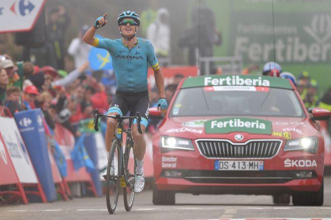 Fuglsang esorcizza il Tour de France in cima allAlto de la Cubilla (Getty Images)