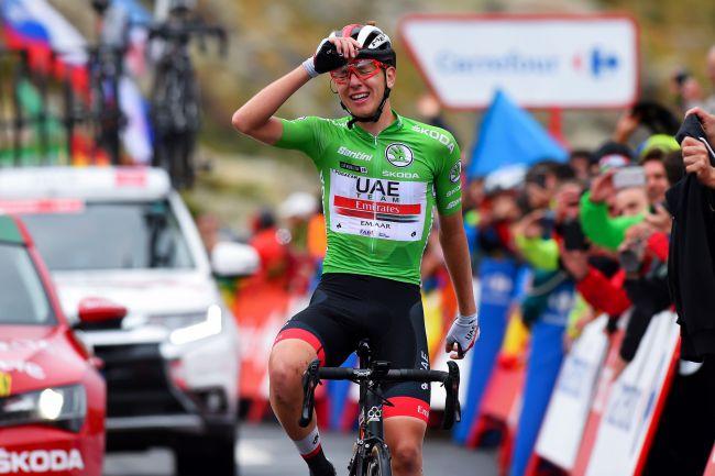 Lo sloveno Pogacar vince lultima tappa di montagna della Vuelta 2019 (foto Bettini)