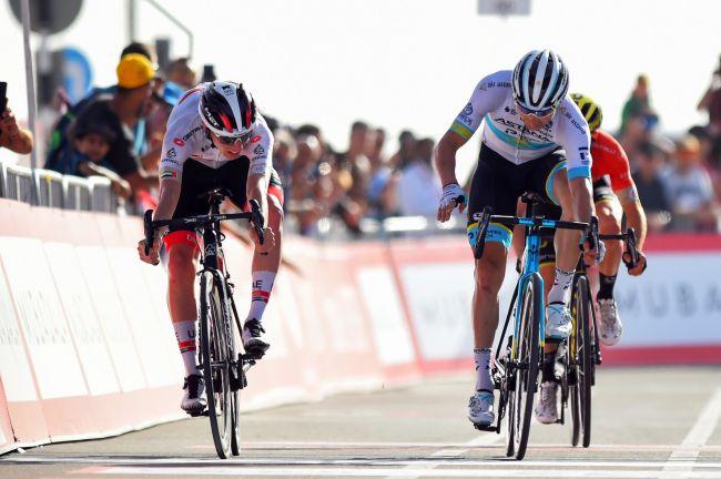 La vittoria di Pogačar sulla Jebel Hafeet nella quinta tappa della corsa emiratina (foto Bettini)