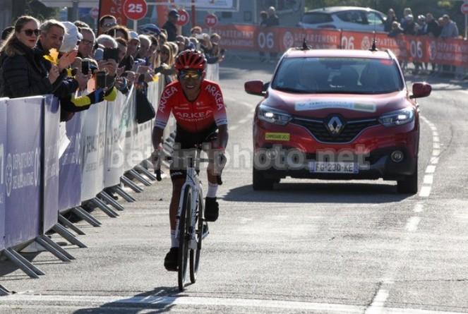 La vittoria di Quintana sul Col dÈze (foto Bettini)