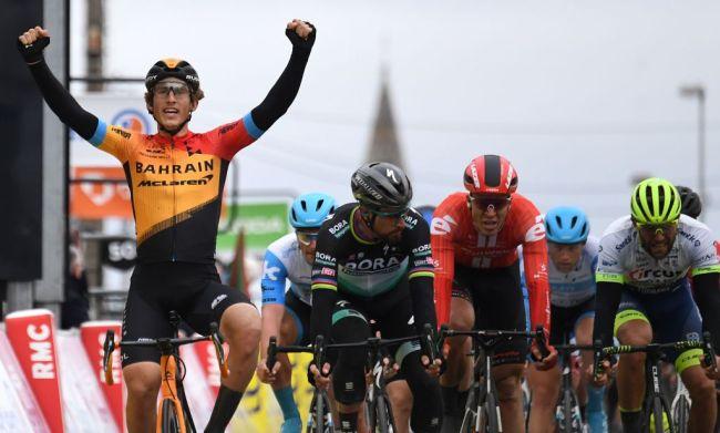 Lo spagnolo Iván García Cortina a segno nella terza frazione (foto AFP)